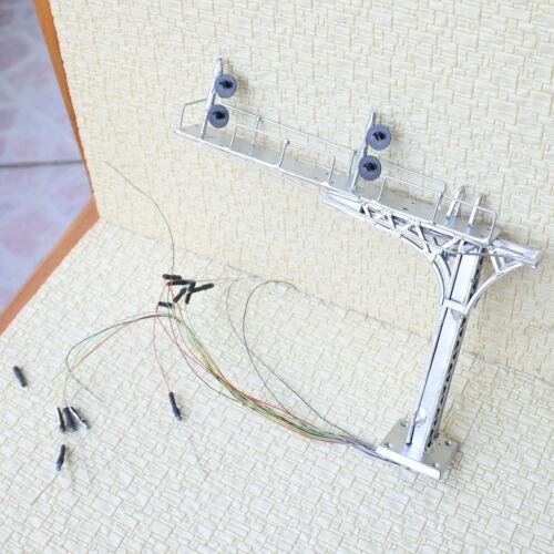 1 x HO OO block searchlight cantilever signal bridge tricolor 2 track metal #D43