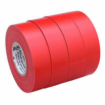 4 Rolls Red Electrical Insulating Tape Vinyl 34 Inch 20 Yards Ul Listed