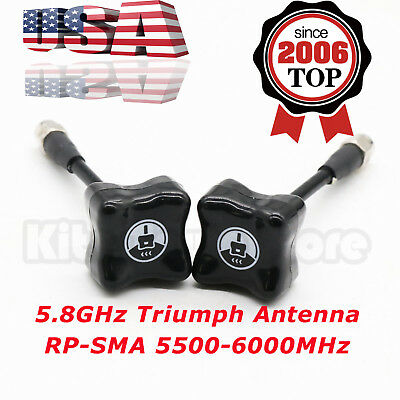 2x For TBS Team BlackSheep 5.8GHz Triumph Antenna RP-SMA 5500-6000MHz For FPV