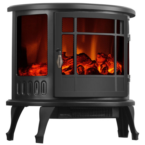"23"" Electric Fireplace Stove 1500W Heater Realistic Flame Ad"