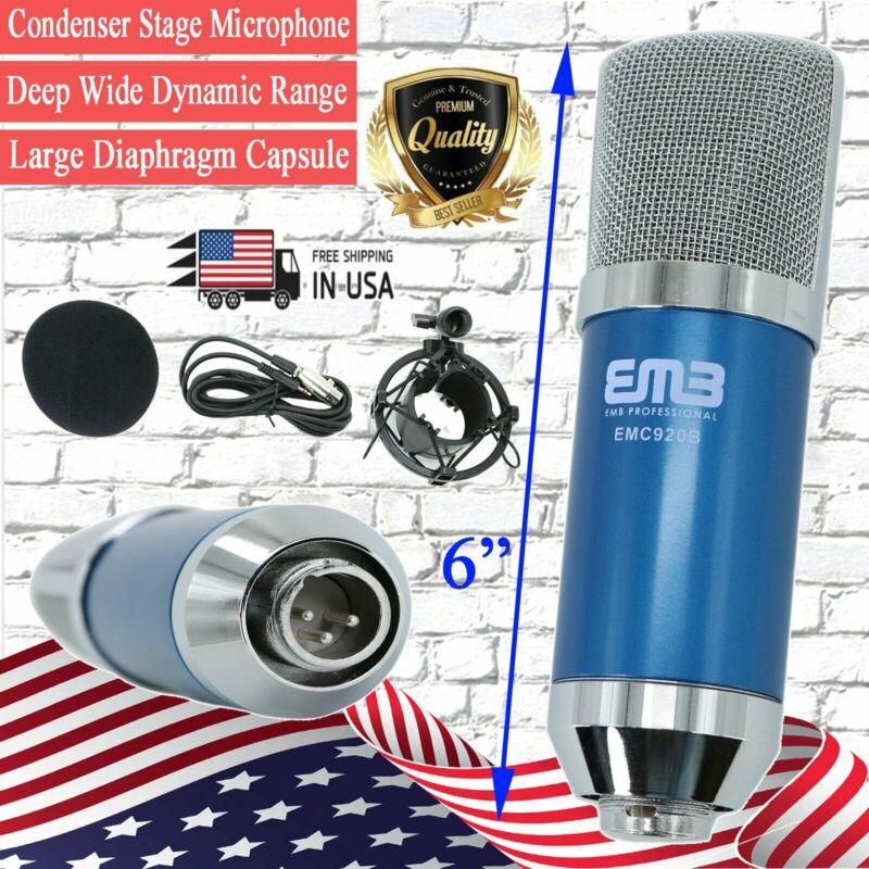 EMC920 Multi Pattern Recording Large Diaphragm Condenser Studio Microphone Blue