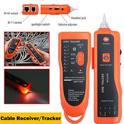 RJ45 RJ11 Telephone Phone Network Cable Wire LAN Tracker Toner Tracer Tester