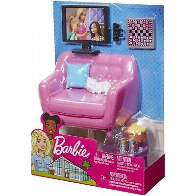 Barbie Estate Indoor Furniture Living Room Set with Kitten