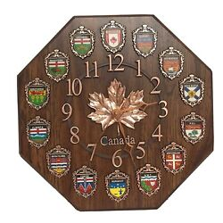 Canada Maple Leaf Country Flaf Logo Wall Clock 11x11 Collectors (NOT FUNCTIONAL)