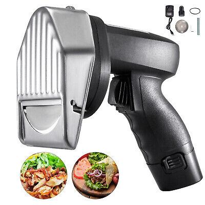 Electric Kebab Cutter Slicer Meat Knife Doner Shawarma Cutting Machine 2 Blades