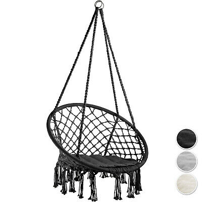 Outdoor Indoor Patio (Hanging Hammock Chair Outdoor Indoor Garden Patio Durable Swing Rope Cushion )