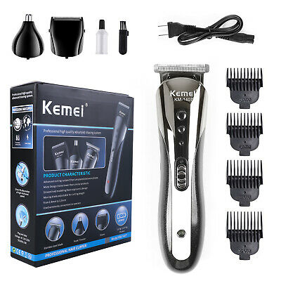KEMEI All in 1 Rechargeable Hair Clippers Hair Cutting Beard Trimmer Barbers Kit