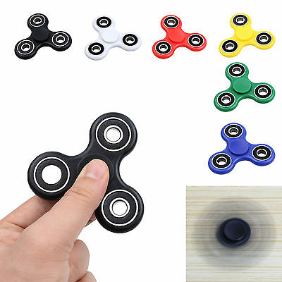 6 pack  BLACK HAND SPINNER TRI FIDGET BALL DESK TOY EDC  KIDS OR ADULT