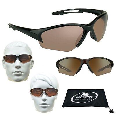 Hochauflösende HD Vision Blau Blocker Golf Fahren Sport Sonnenbrille Wrap Gummi