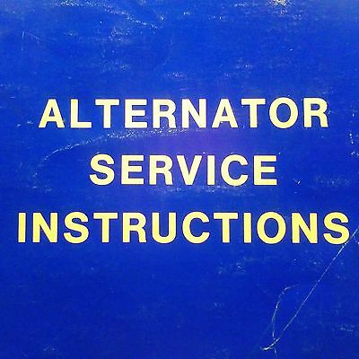 Continental Alternator TCA-7601, 7801. 7602, 7603, 7802 & 7501 Service Manual