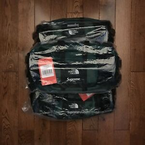 FW18 Supreme The North Face TNF Leather Waist Bag Green
