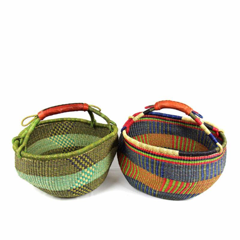 Bolga Market Basket Large Mixed Colors