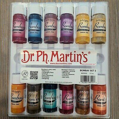 Dr. Ph. Martin's Bombay India Ink Bottles, 0.5 oz, Set of 12 Set #2