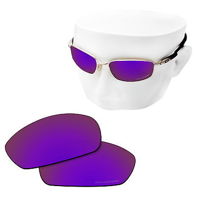 OOWLIT Replacement Sunglasses Lenses for-Oakley Blender POLARIZED Etched- Purple, used for sale  Shipping to United States