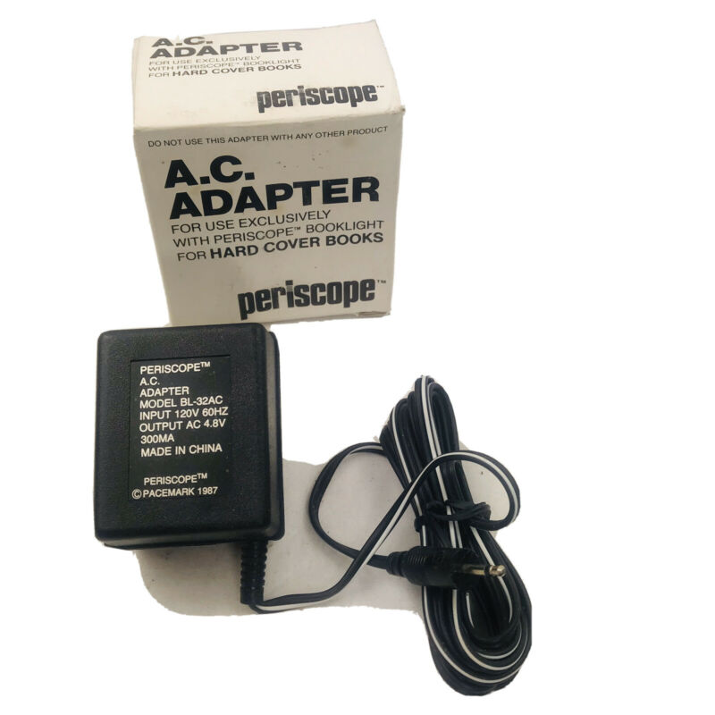 Periscope Booklight AC Adaptor with Original Box