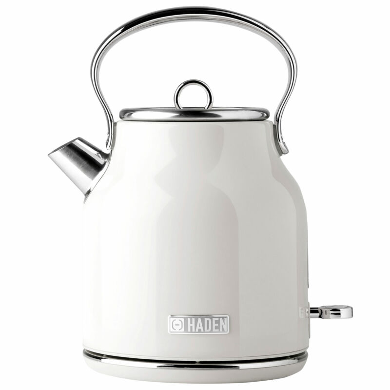 Haden Heritage 1.7 Liter Stainless Steel Retro Electric Tea Kettle (Open Box)