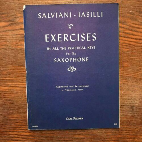 Salviani - Iasilli Exercises for the Saxophone 1940 Sheet Music G