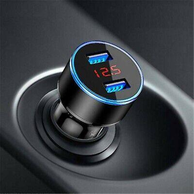 Dual Ports 3.1A USB Car Cigarette Charger Lighter Digital LED Voltmeter 12V/24V