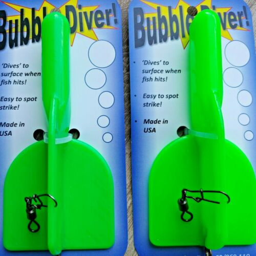 2 pc LOT - Bubble Diver for Walleye Trolling with spoons like jet diver