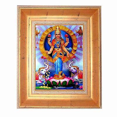 Gold Leaf Frame 10x13in Hindu Shri Lakshmi #HDL-06-PI-TORINO# Vintage