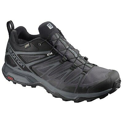 Salomon X Ultra 3 Low GTX Men Hiking Shoes Black/Magnet Used; Lightly Worn