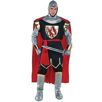 zritter Kostüm Mittelalter Herren Kostüm Erwachsene Outfit (Erwachsene Ritter Kostüm)