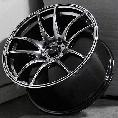 17x9 Hyper Black Wheels Vors TR4 5x114.3 30 (Set of 4)