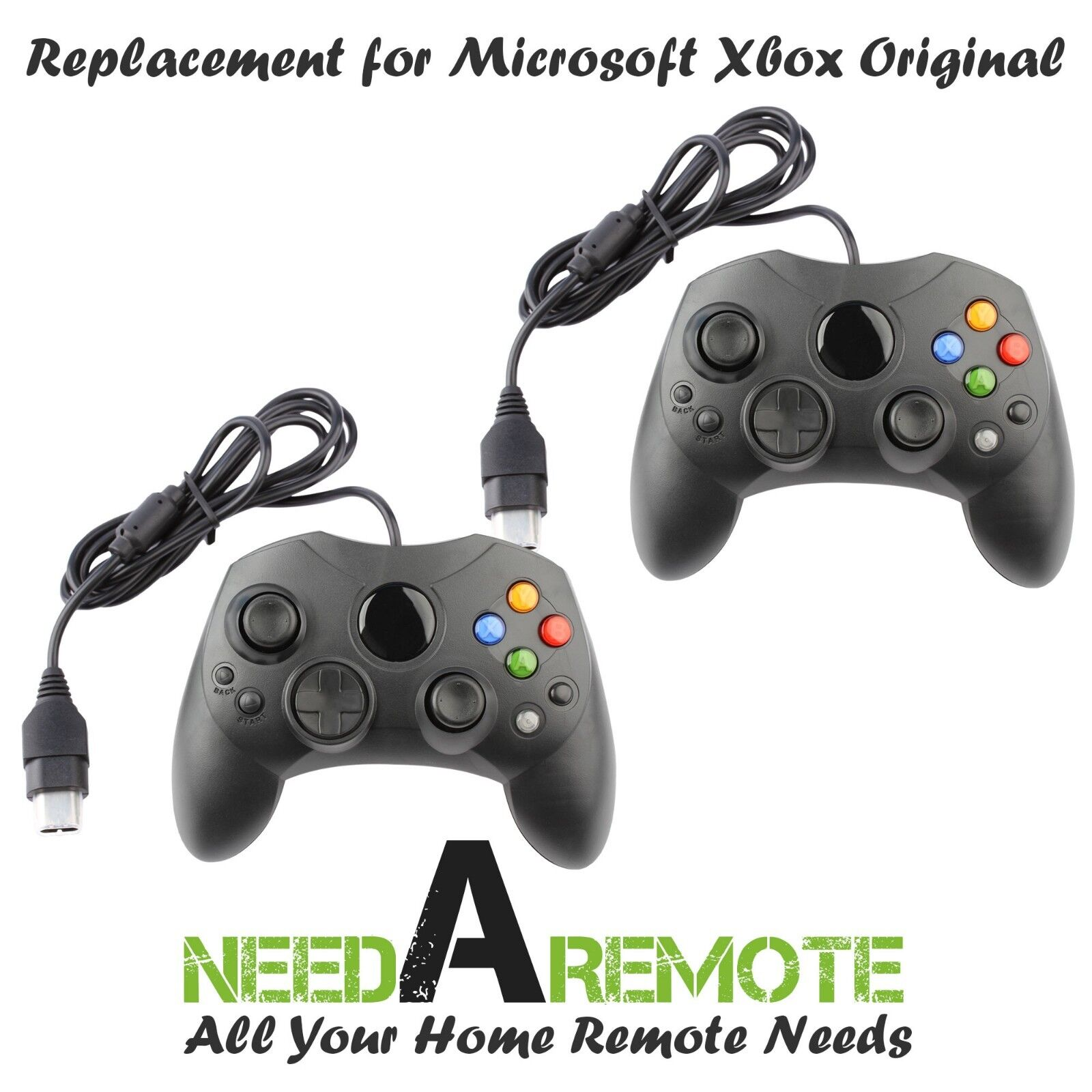 2 For Microsoft Original Xbox Video Game Console Remote Controller Wired