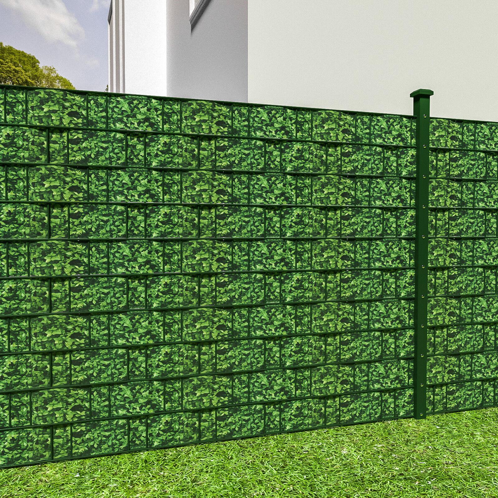 pvc sichtschutz streifen sichtschutzfolie doppelstabmatten zaun schutz 35m buchs eur 20 89. Black Bedroom Furniture Sets. Home Design Ideas