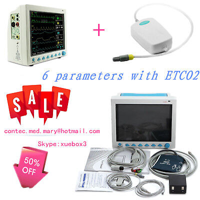 Et Co2 Portable Vital Signs Patient Monitor Multiparameter Icu Ccu Capnography