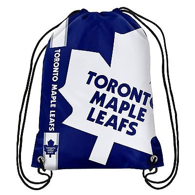 - Toronto Maple Leafs Back Pack/Sack Drawstring Bag/Tote New backpack Side Stripe