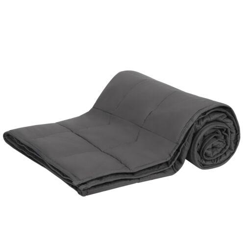 Promote Deep Sleep 15lbs 72 x 48″ Weighted Blanket Full Body Twin Size Deep Grey Bedding