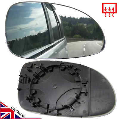 VW PASSAT B6 WING MIRROR GLASS 2005 10 HEATED RIGHT OFFSIDE DRIVER CLIP ON