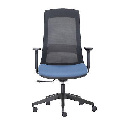 Rotatable Office Chair Blue Foam Cushion Meah Chair