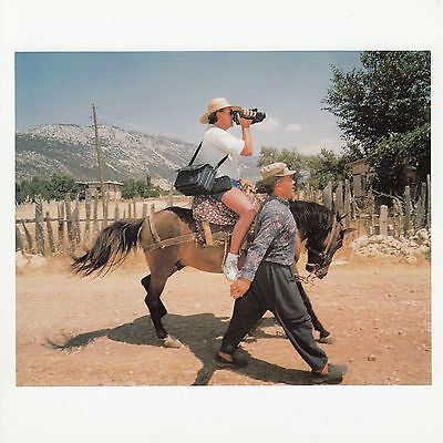 Postcard Kalkan Turkey Horse Riding Tourist with Camcorder Magnum Phaidon
