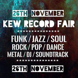 Kew Record Fair - Sunday NOVEMBER 26TH (New & Used Records) 500 Crates