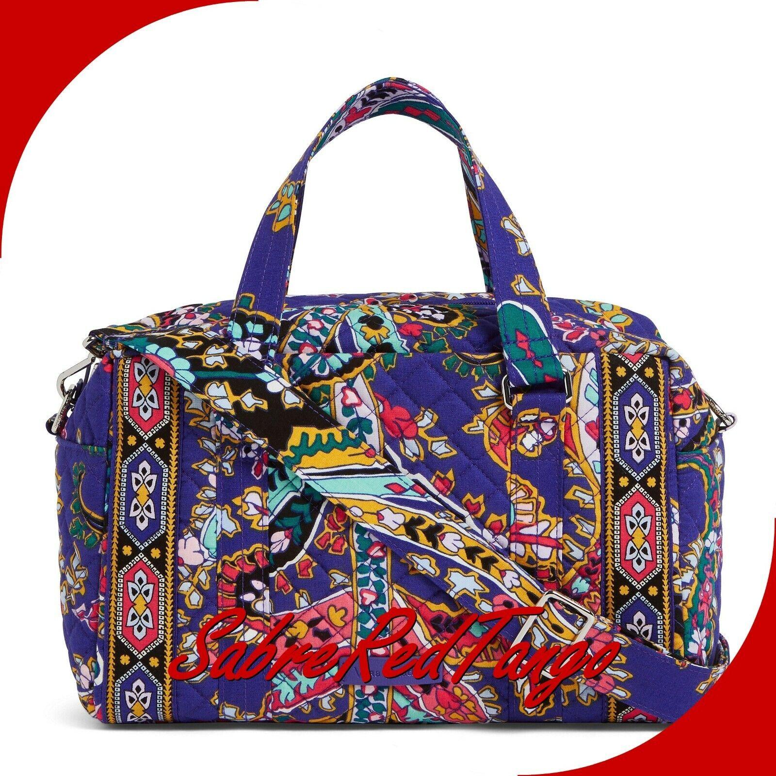 Vera Bradley Iconic 100 Handbag Satchel Romantic Paisley 239