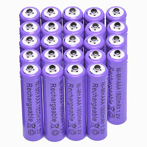 24x AAA 1800mAh 1.2 V Ni-MH rechargeable battery Purple for MP3 RC Toys Camera