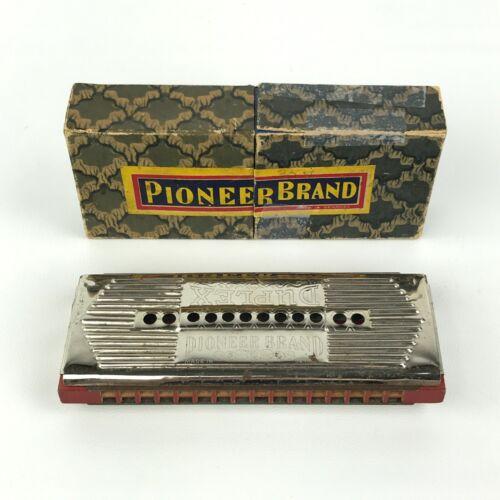 Vintage Pioneer Brand Duplex Harmonica With Original Box Made in Germany C & G