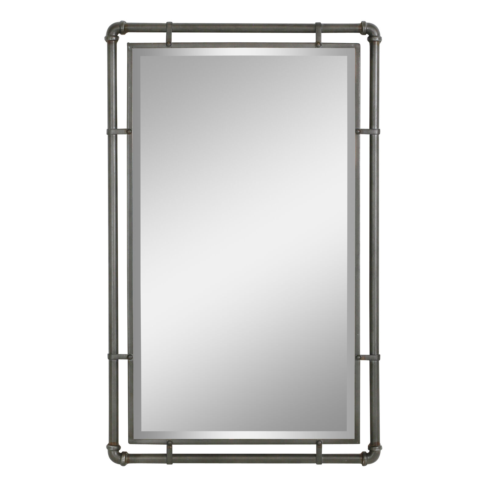 Okeefe Geometric Metal Frame Hanging Accent Mirror With Mounting Brackets For Sale Online Ebay