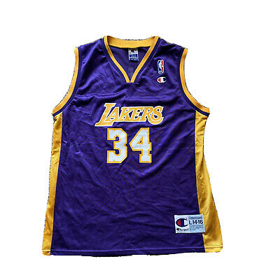 Vintage Shaquille O'Neal Los Angeles  Size Youth L 14-16 NBA Jersey Champion.  J