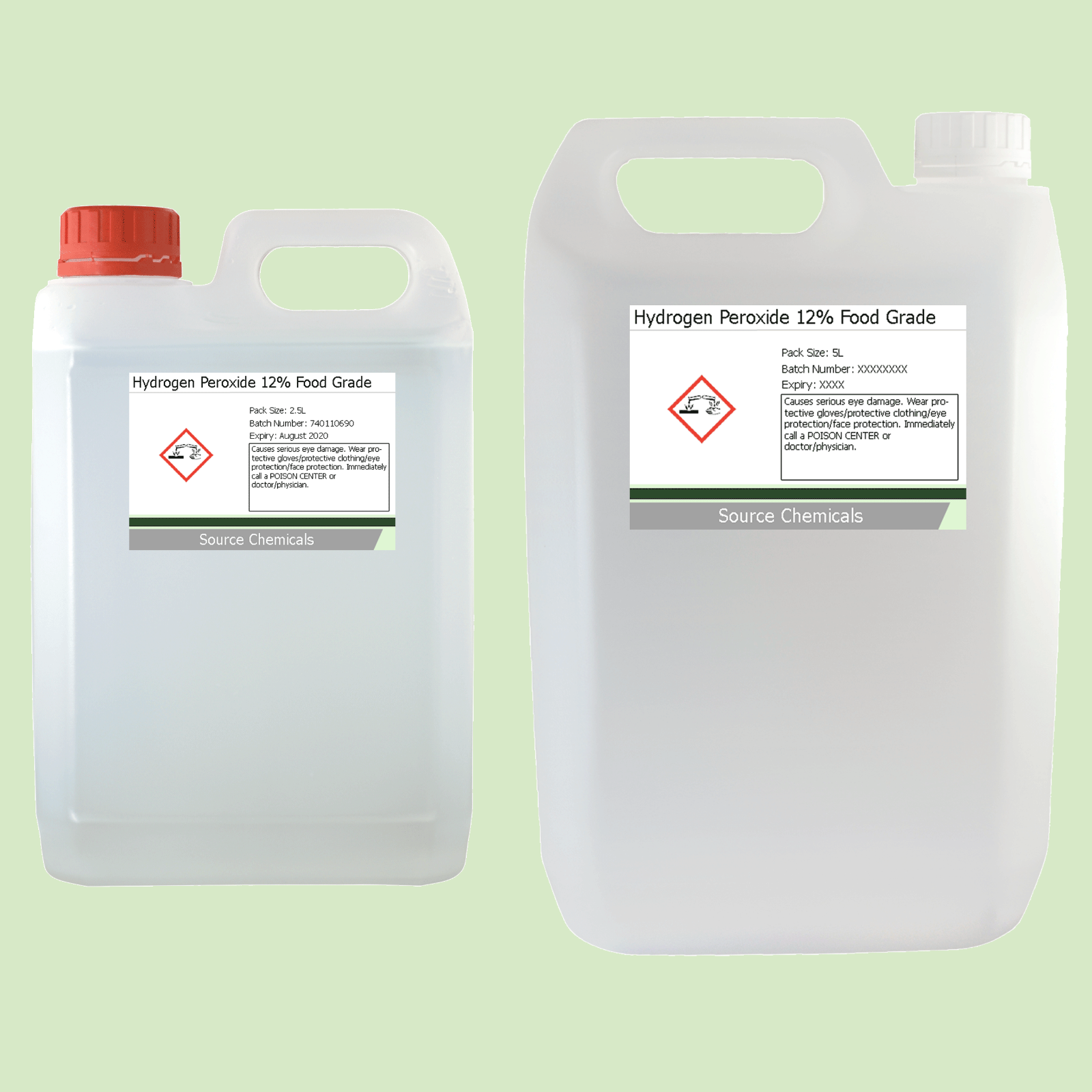 Details about Hydrogen Peroxide 12% Food Grade H2O2 2 5L to 40L