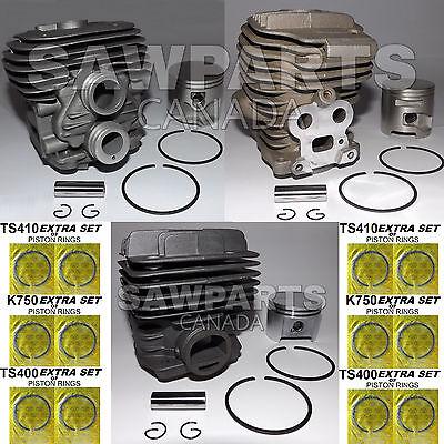 Stihl Ts410 Ts420 Husqvarna K750 K760 Stihl Ts400 Cylinder Piston Nikasil 3 Pack