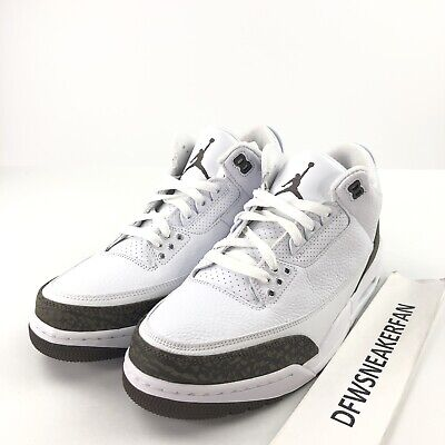 Nike Air Jordan 3 Retro Mocha Mens White Dark Brown Authentic 136064-122 NIB