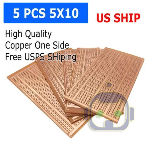 US Stock 5pcs Prototype PCB Universal Bread Board 5 x 10cm Sigle Side Copper