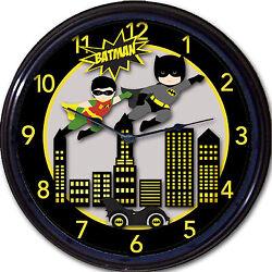 Batman & Robin Super Heroes Gotham DC Batmobile Wall Clock Classic Comics New