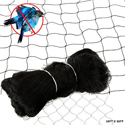 "25'X50' Anti Bird Netting Garden Poultry Aviary Game Plant Protective 2.4"" Mesh"