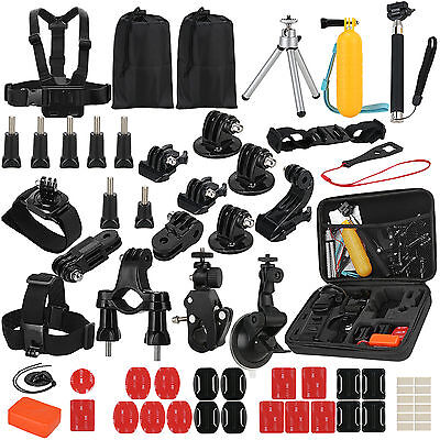 64 in 1 Head Chest Mount Monopod GoPro Accessories Kit For Hero 3 3+ 4 5 Camera