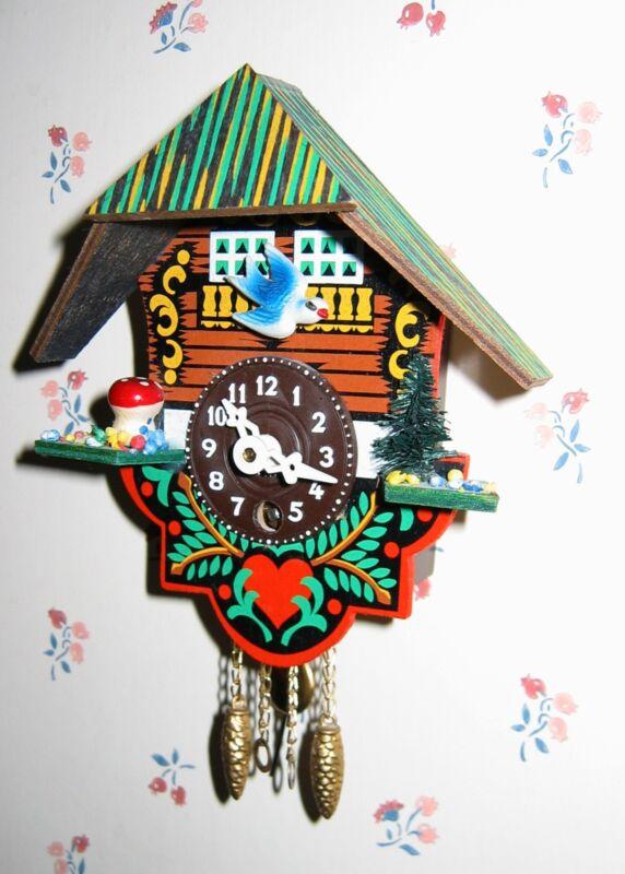 VINTAGE BLACK FOREST West German CLOCK 100% complete MINT in ORIGINAL BOX!