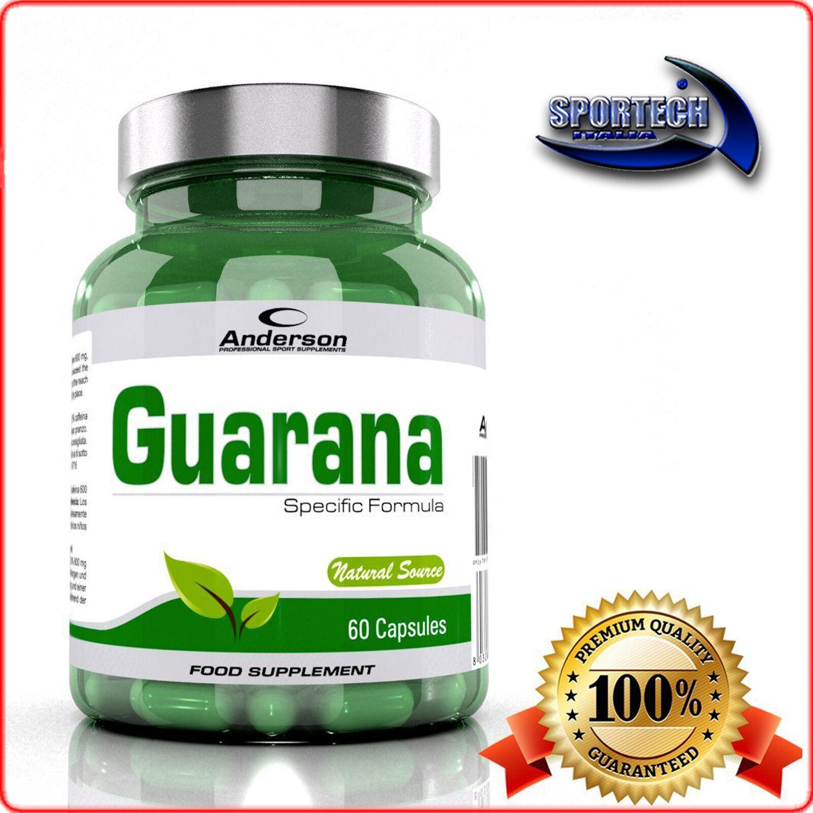 Anderson Guarana 60/120/240 capsule tonico energizzante eccitante